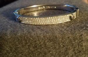 Michael Kors silver bangle bracelet